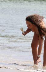 CHARLOTTE CROSBY in Bikini on the Beach in St Lucia 05/16/2018