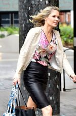 CHARLOTTE HAWKINS Out and About in London 05/02/2018