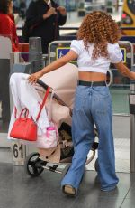 CHELSEE HEALEY at Manchester Piccadilly Train Station 05/24/2018