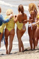 CHLOE and LAURYN GOODMAN, GABBY ALLEN and TYNE-LEXY CLARSON at a Beach in Marbella 05/26/2018