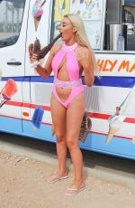 CHLOE CROWHURST Eat a Long Chocolate Covered Ice Cream in Cyprus 04/19/2018