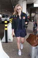 CHLOE MORETZ at LAX Airport in Los Angeles 05/20/2018