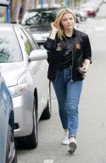CHLOE MORETZ Out and About in Hollywood 05/24/2018