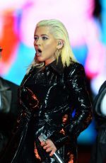 CHRISTINA AGUILERA Performs at Formula 1 World Championship in Azerbaijan 04/18/2018