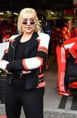 CHRISTINA AQUILERA at Formula 1 Grand Prix of Azerbaijan in Baku 04/29/2018
