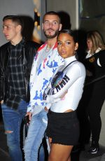CHRISTINA MILIAN and Matt Pokora at Catch LA in West Hollywood 05/27/2018