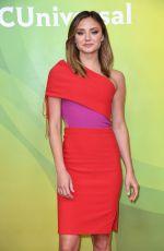 CHRISTINE EVANGELISTA at NBC/Universal Summer Press Day in Universal City 02/05/2018