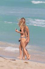 CIARA LEBAMOFF in Bikini on the Beach in Miami 05/19/2018