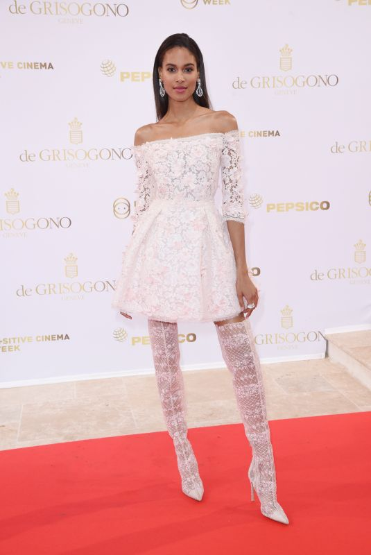 CINDY BRUNA at Semaine Du Cinema Positive by Positive Planet Diner in Cannes 05/14/2018