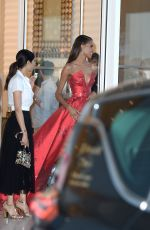 CINDY BRUNA Leaves Martinez Hotel in Cannes 05/13/2018