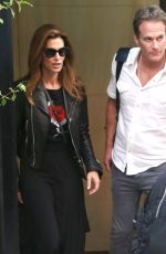 CINDY CRAWFORD and Rande Gerber Leaves Their Hotel in New York 05/09/2018