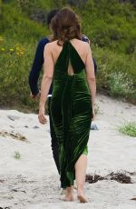 CINDY CRAWFORD on the Set of a Photoshoot at a Beach in Malibu 05/24/2018