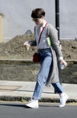 CLAIRE FOY Out and About in London 05/17/2018
