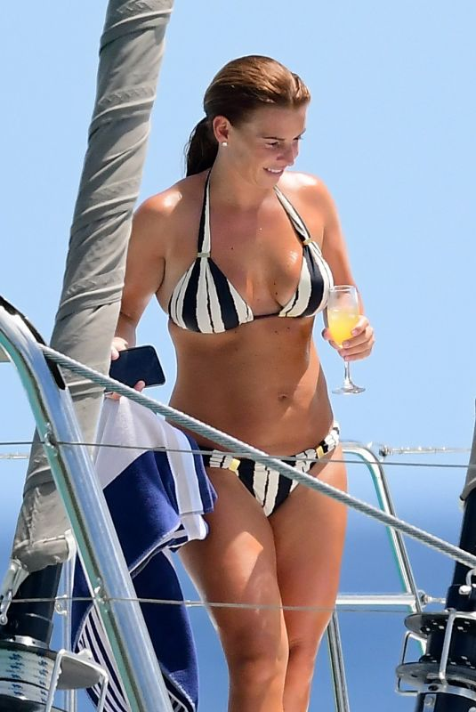 COLEEN ROONEY in Bikini at a Boat in Barbados 05/28/2018