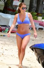 COLLEN ROONEY in Blue Bikni on the Beach in Barbados 05/22/2018