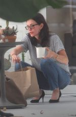 COURTENEY COX Leaves a Hair Salon in Los Angeles 05/10/2018