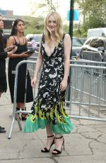 DAKOTA FANNING Arrives at Prada Event in New York 05/04/2018
