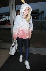 DAKOTA FANNING at Los Angeles International Airport 05/02/2018