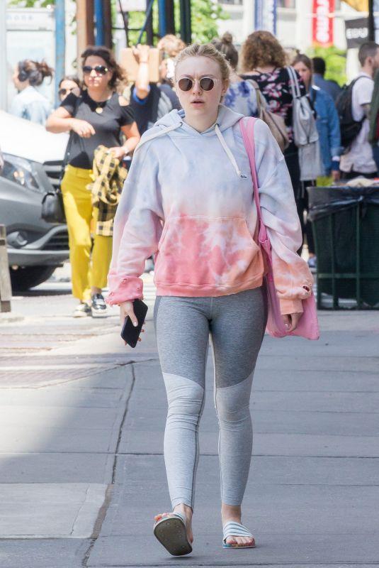 DAKOTA FANNING Leaves a Gym in New York 05/15/2018