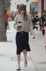 DAKOTA JOHNSON Out for Coffee in Los Angeles 05/18/2018