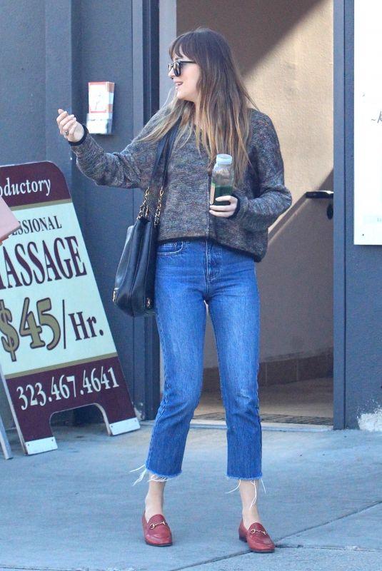 DAKOTA JOHNSON Out in Los Angeles 05/17/2018