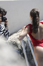 DANIELA LOPEZ OSORIO in Swimsuit at a Photoshoot at Hotel Cap Eden Roc in Antibes 05/17/2018