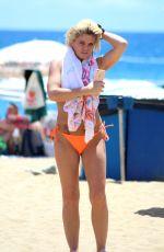 DANNIELLA WESTBROOK in Bikini on the Beach in Spain 05/16/2018