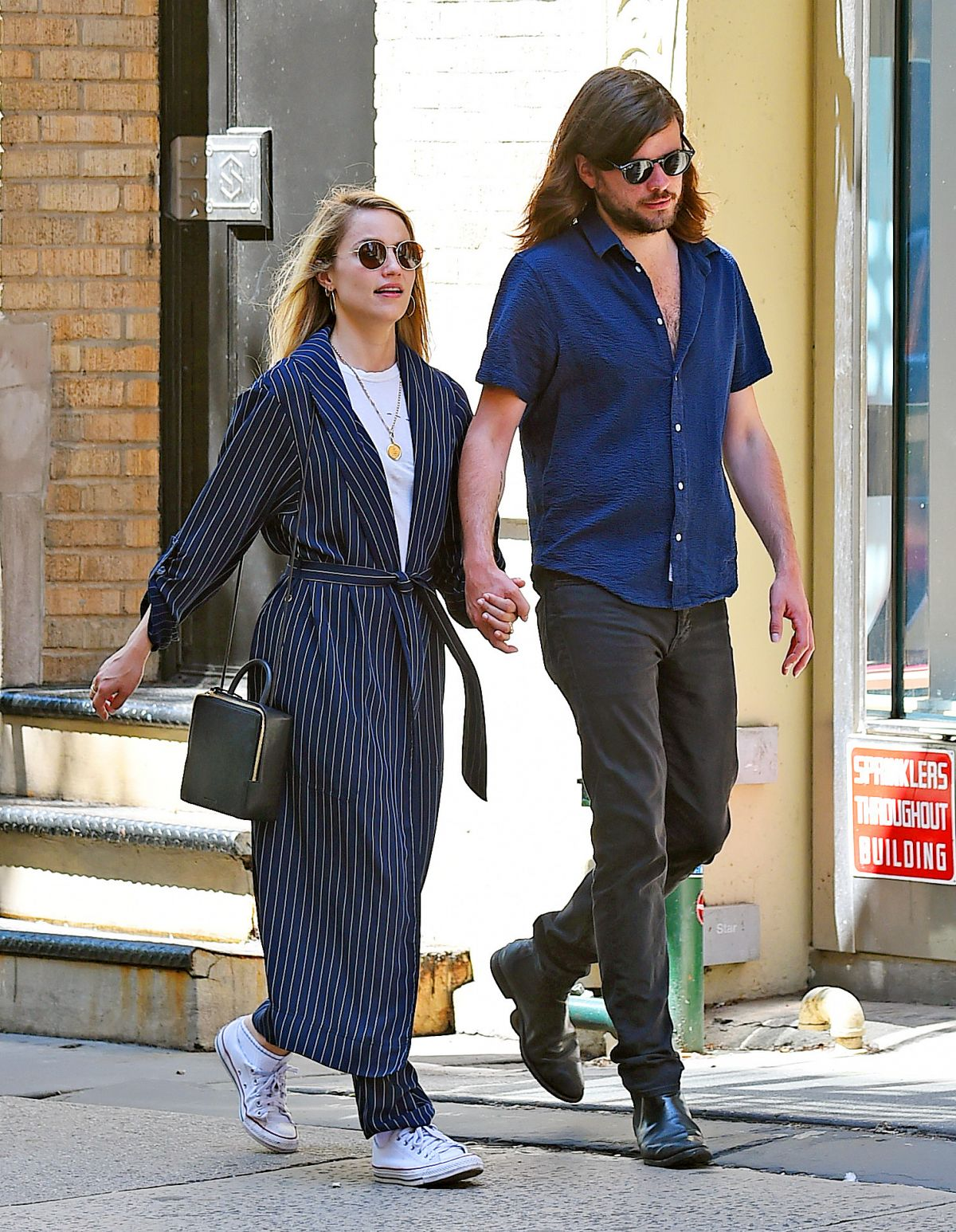 DIANNA AGRON and Winston Marshall Out in New York 05/23 ...
