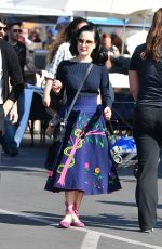 DITA VON TEESE and Adam Rajcevich Shopping at Flea Market in Los Angeles 05/24/2018