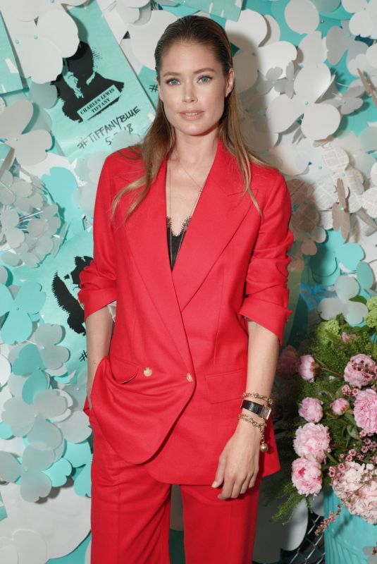 DOUTZEN KROES at Tiffany & Co. Jewelry Collection Launch in New York 05/03/2018