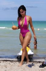 DRAYA MICHELE in Swimsuit at a Beach in Miami 05/15/2018