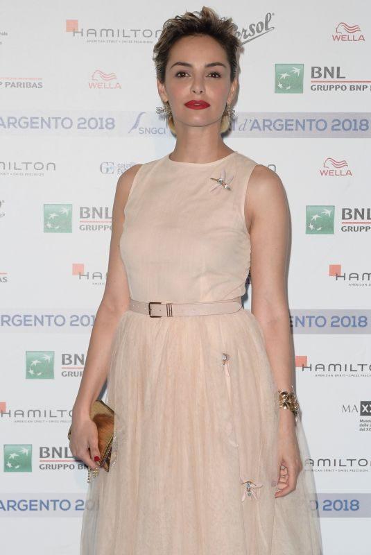 ELENA CUCCI at Nastri D'Argento Blu Carpet in Rome 05/29/2018