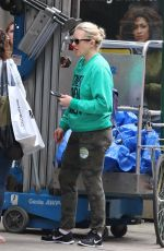 ELISABETH MOSS on the Set of Her Upcoming Movie in New York 05/14/2018