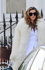 ELIZABETH  HURLEY on teh Set of a Photoshoot in London 05/09/2018
