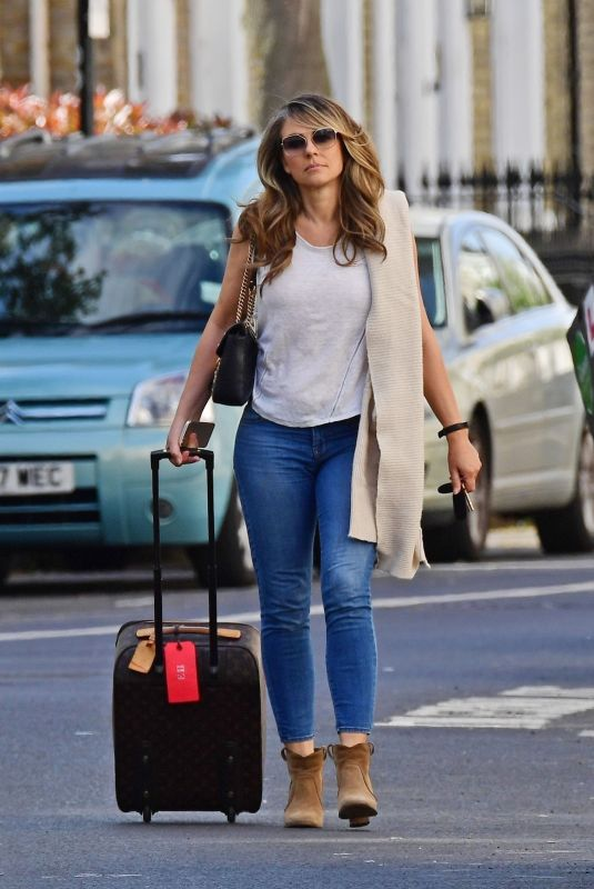 ELIZABETH HURLEY Out and About in London 05/11/2018