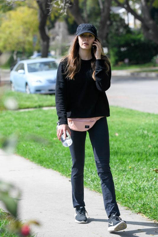 ELIZABETH OLSEN Out and About in Los Angeles 04/30/2018