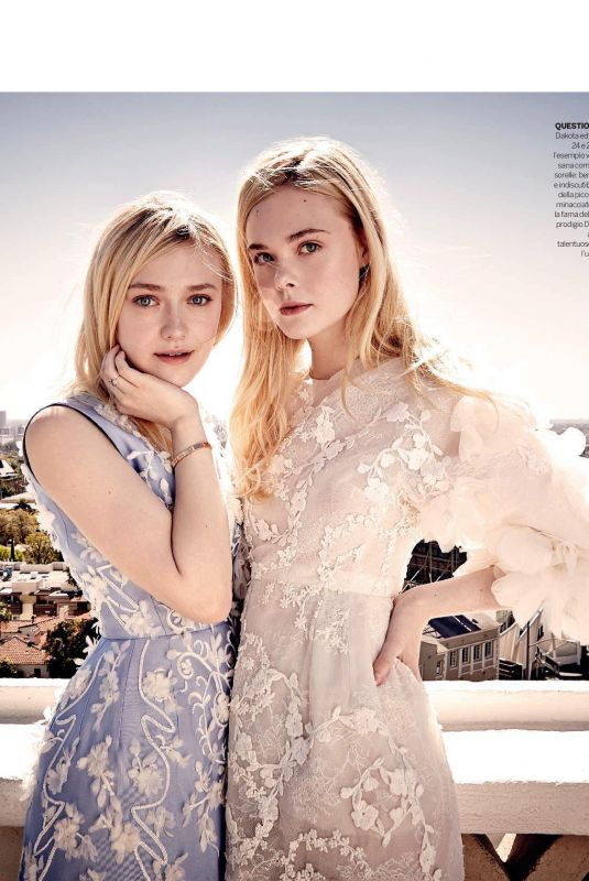 ELLE and DAKOTA FANNING in Gioia Magazine, Italy May 2018