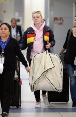 ELLE FANNING at JFK Airport in New York 05/03/2018