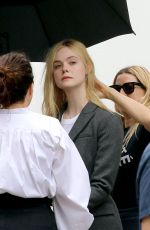 ELLE FANNING on the Set of a Photoshoot in New York 05/04/2018
