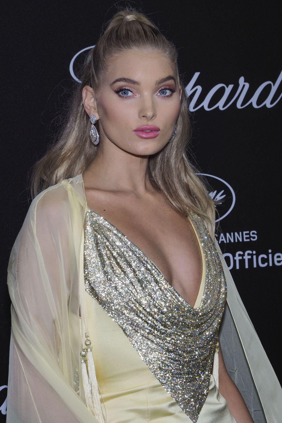 Elsa Hosk exudes the model glamour in plunging chiffon