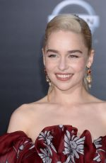 EMILIA CLARKE at Solo: A Star Wars Story Premiere in Los Angeles 05/10/2018