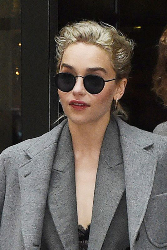 EMILIA CLARKE Out in New York 05/22/2018