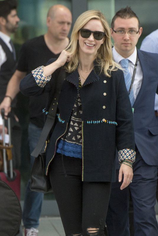 EMILY BLUNT at Heathrow Airport in London 05/21/2018