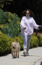EMMA KENNEY Out with Her Dog in Los Angeles 05/27/2018