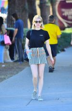EMMA ROBERTS Out on Melrose Avenue in Los Angeles 05/10/2018
