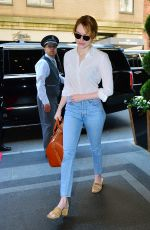 EMMA STONE Arrives at Carlyle Hotel in New York 05/07/2018