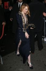 EMMA STONE at MET Gala After-party in New York 05/07/2018