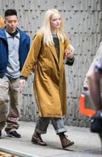 EMMA STONE on The Set of Maniac at Park Avenue in New York 05/10/2019