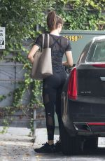 EMMY ROSSUM Heading to a Gym in Los Angeles 05/19/2018