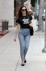 EMMY ROSSUM in Jeand Out in Beverly Hills 05/11/2018